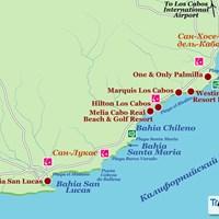 Карта курорта Лос-Кабос