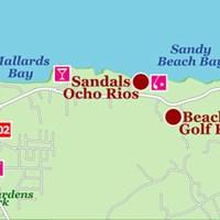 Карта Очо-Риос