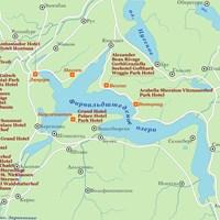 Карта курортов Фирвальдштедского озера