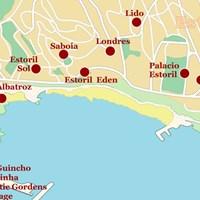 Карта курортов Кашкайш и Эшторил