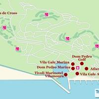Карта курорта Виламоура