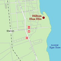 Карта курорта Хуа-Хин