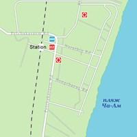 Карта курорта Ча-Ам