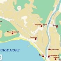 Карта курорта Хоста