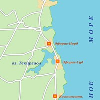 Карта черноморского побережья Румынии