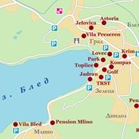 Карта озера Блед