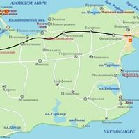 Карта Керченского полуострова