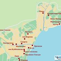 Карта Ялты