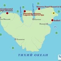 Карта острова Муреа