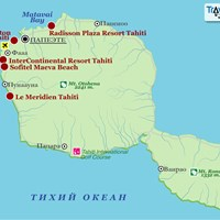 Карта острова Таити