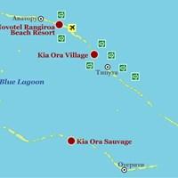 Карта атолла Рангироа