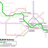 Схема метро в Тэджоне