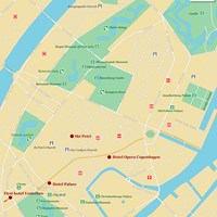 Карта Копенгагена