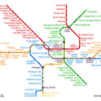 Схема метро Вашингтона