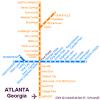 Схема метро Атланты