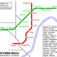 Схема метро в Пхеньяне