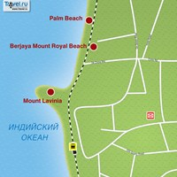 Карта курорта Маунт-Лавиния