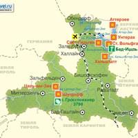 Карта Земли Зальцбург