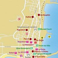 Карта курорта Аяччо