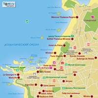 Карта курорта Биарриц