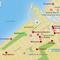 Карта курорта Довиль