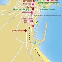 Карта курорта Кальви