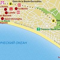 Карта курорта Ла-Боль