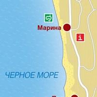 Карта курорта Солнечный День