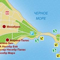 Карта курорта Несебр