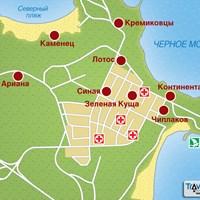 Карта курорта Китен