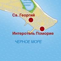 Карта курорта Поморие