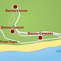 Карта курорта Елените
