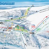 Схема курорта Хёгфьеллет (Селен)