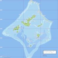 Карта архипелага Гамбье
