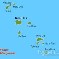 Карта Маркизских островов