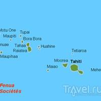 Карта Наветренных островов