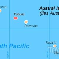 Карта островов Тубуаи