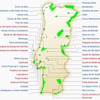 Карта природных парков и заповедников Португалии