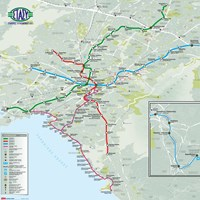 Карта метро и трамваев в Афинах